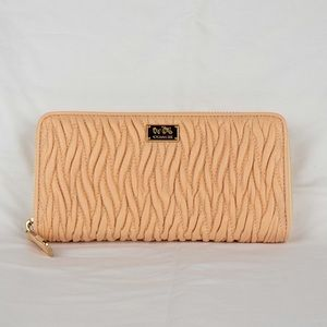 NEW coach madison twisted leather wallet